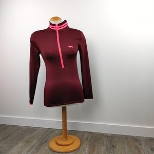 VS PINK | The Ultimate 3/4 Zip Up XS Long Sleeve